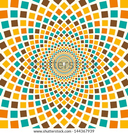 Arabesque in color. Vector illustration. - stock vector