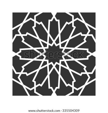 arabesque motif. vintage motif. vector icon. - stock vector