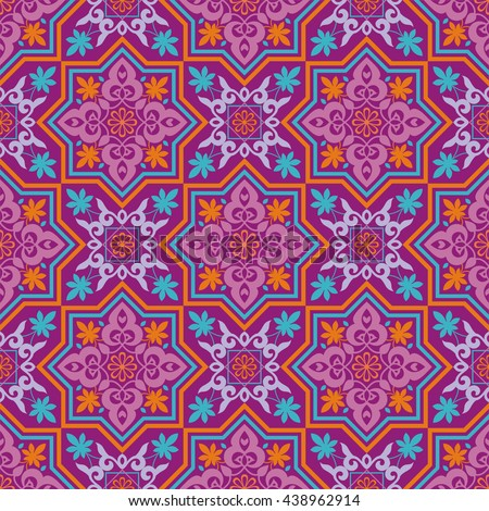 Arabesque pattern moorish style arab seamless stock vector for Arabesque style decoration
