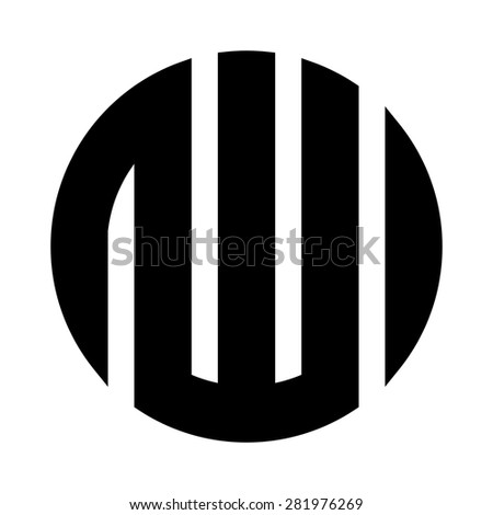 Arabic calligraphy kufic of the word Allah logo design icon template - stock vector