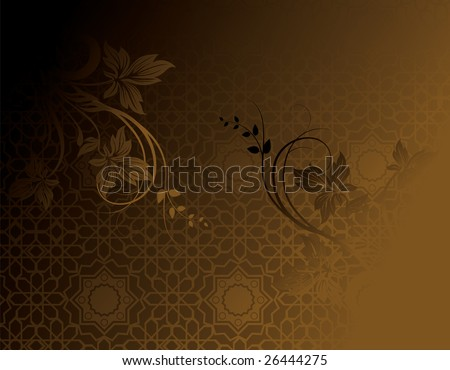 Arabic Classical Ornament, editable vector illustration - stock vector