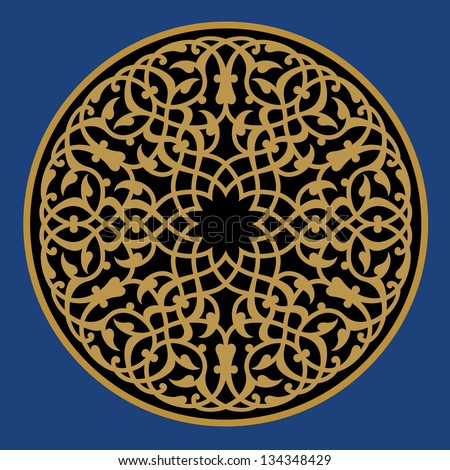 Vintage baroque floral golden ornament vector stock vector image - Arabic Ornament Stock Images Royalty Free Images