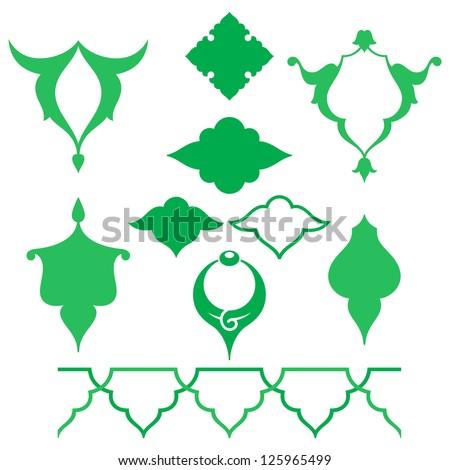 Arabic oriental ornament, floral pattern motif, arabesque, arabic ornament. - stock vector