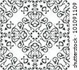 Arabic ornament, rosette in square. - stock vector