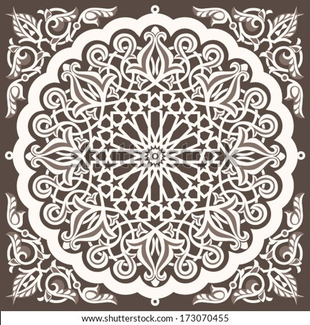 Arabic vintage seamless ornament for background design - stock vector