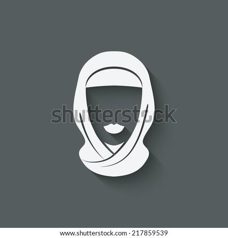 Arabic woman avatar - vector illustration. eps 10 - stock vector
