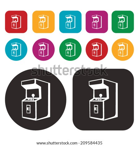 Arcade Game icon / Arcade Game Machine icon - stock vector