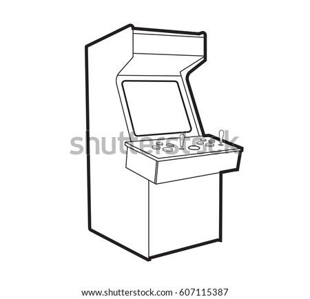 Arcade Game Machine Icon Line On Stock Vector 607115387 - Shutterstock