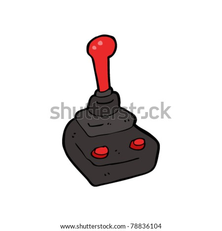 arcade joystick cartoon - stock vector