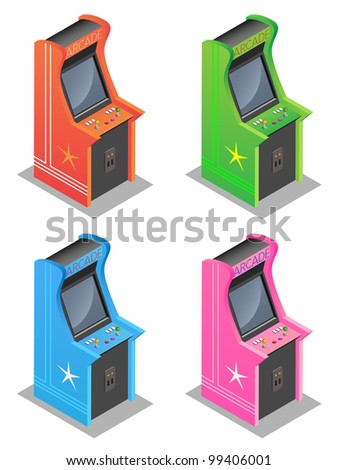 Arcade machine - stock vector