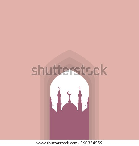 Arch Arabic - stock vector
