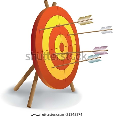 archery and good shooting - stock vector