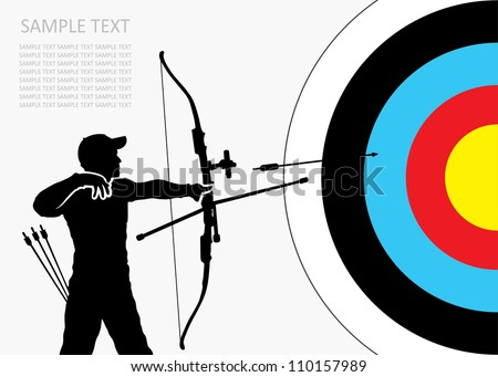 Archery background - vector illustration