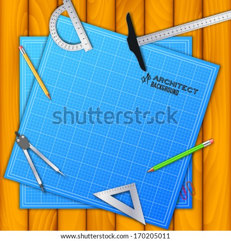Architect background concept. vector illustration  - stock vector