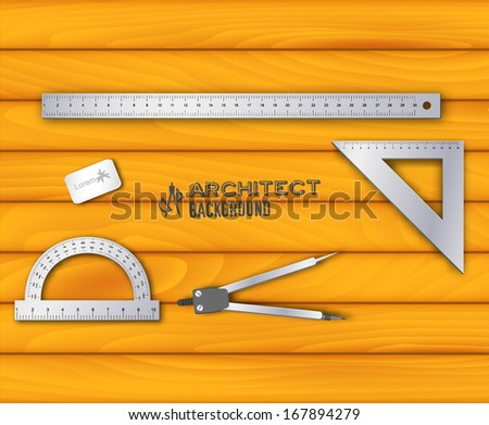 Architect background. Vector illustration - stock vector