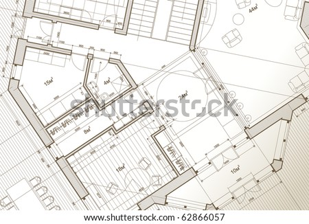 architect house plan: vector blueprint
