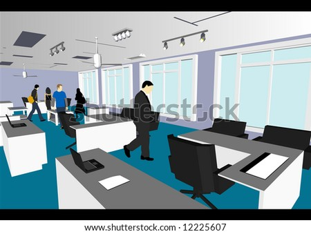 architect home office. Architect\u0027s Home / Office In Vector Format. Every Feature Of Each Building Including Doors And Architect