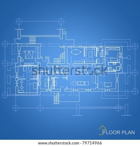 Architectural background house blueprint stock vector royalty free architectural background house blueprint malvernweather Images