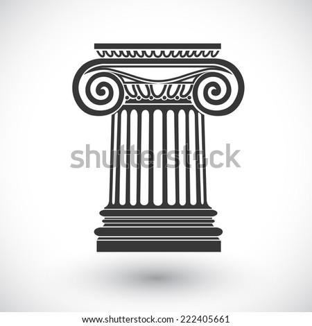 architectural background , ionic column , vector drawing - stock vector