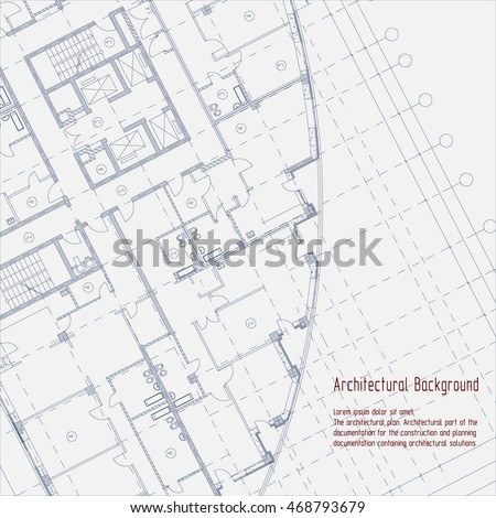 Architectural background. Part of architectural project, architectural plan, technical project, construction plan.