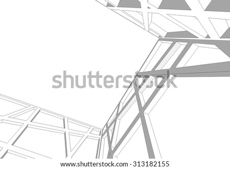 Architectural background. Structure construction
