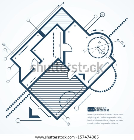Architectural background. Vector illustration  - stock vector