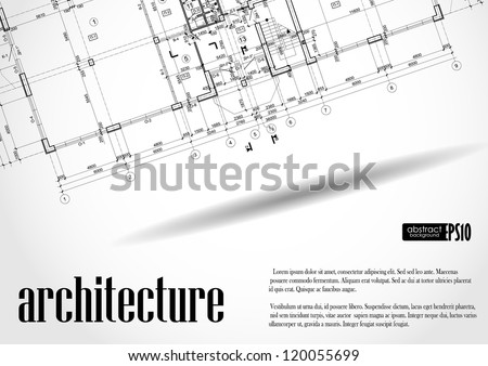 Architectural background. Vector illustration. Eps 10. - stock vector