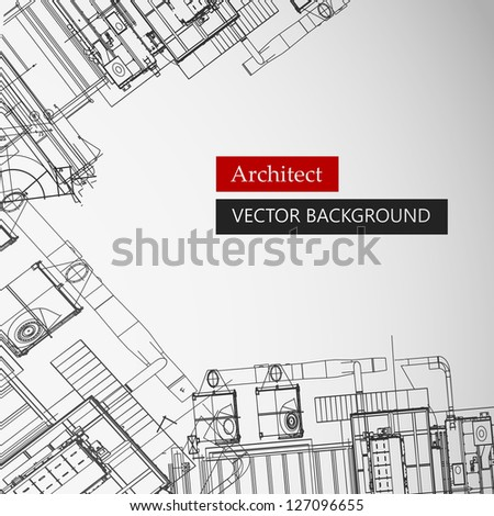 Architectural background. Vector Illustration, eps10, contains transparencies. - stock vector