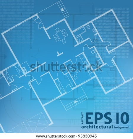 architectural blueprint background. vector illustration