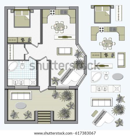 Studio apartment furniture image of studio apartment for Studio apartment floor plans furniture layout