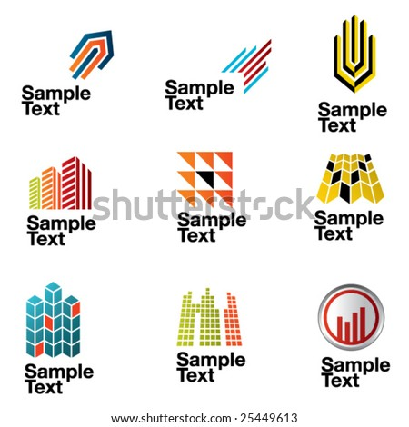 Architectural design symbols - stock vector