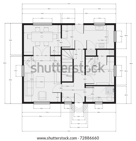 architectural drawing - stock vector