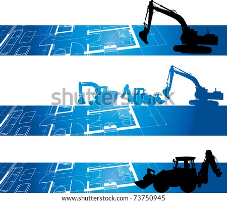 architectural drawing construction background - stock vector