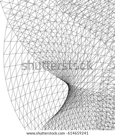 Architectural Drawing Geometric Background Stock Vector