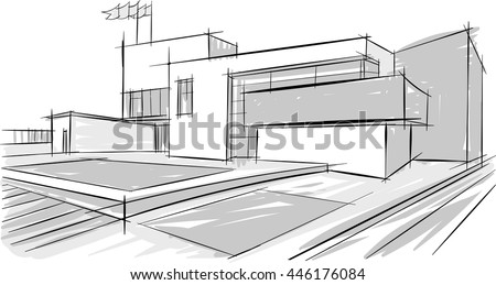 Architectural Drawing Of Office Buildings