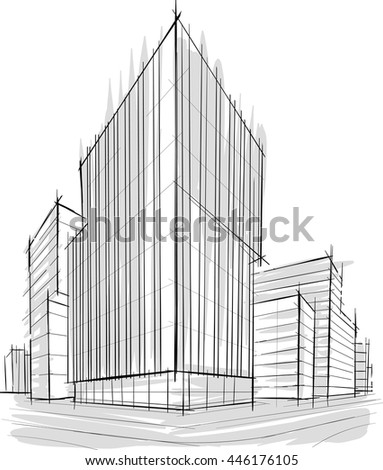 89 architecture sketches buildings architectural for Building drawing online