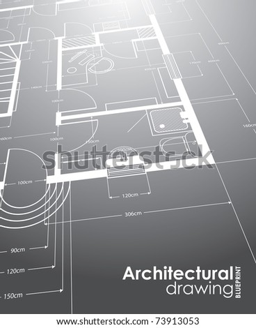 architectural drawings - stock vector
