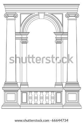 architectural element vector