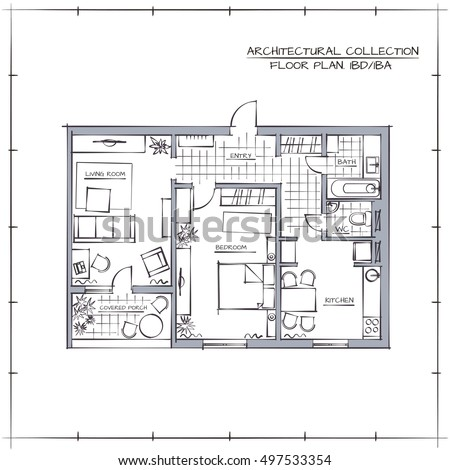 Floor plans hand drawn thefloors co for Apartment stock plans