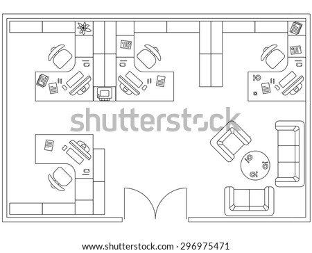 architectural set furniture interior design elements stock photo
