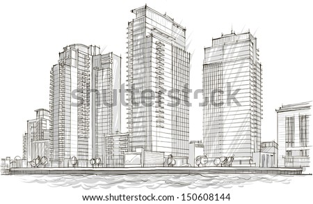 Architectural Sketch Idea Drawing City