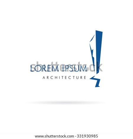 Architecture and Building. Vector logo concept design - stock vector