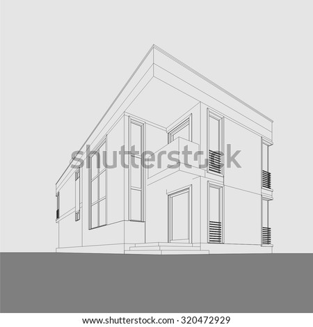 House Building Architecture Stock Vector 320475794