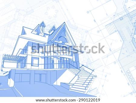 Rolls Architecture Blueprints House Plans Stock Photo 272110673 ...