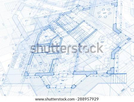 architecture design blueprint. Architecture Design: Blueprint - Vector Illustration Design G
