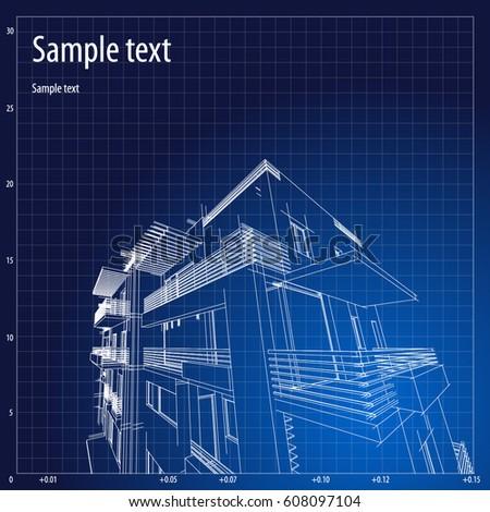 Architecture grid blueprint background sample vectores en stock architecture grid blueprint background sample malvernweather Gallery