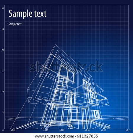 Architecture grid blueprint background sample vectores en stock architecture grid blueprint background sample malvernweather Images