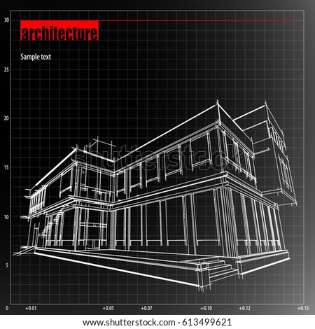 Architecture grid blueprint background sample stock vector 613499621 architecture grid blueprint background sample ccuart Gallery