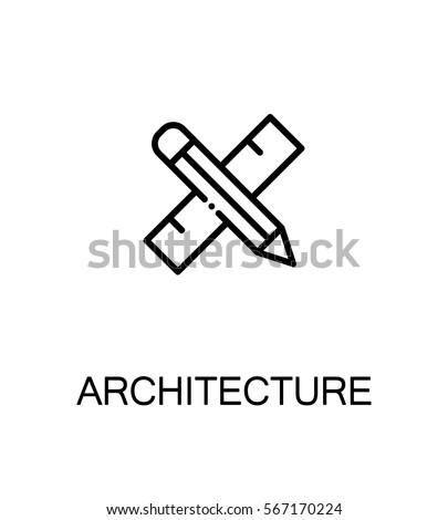 Architecture icon single high quality outline stock vector for Architecture icon