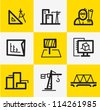 Architecture Icons - stock vector